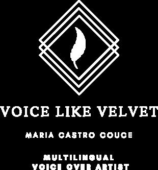 The logo of Maria Castro, a multilingual Spanish female voice over